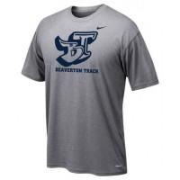 Beaverton Track 10: Adult-Size - Nike Team Legend Short-Sleeve Crew T-Shirt - Gray