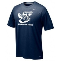 Beaverton Track 13: Adult-Size - Nike Team Legend Short-Sleeve Crew T-Shirt - Navy Blue