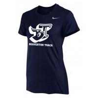Beaverton Track 15: Nike Women's Legend Short-Sleeve Training Top - Navy Blue