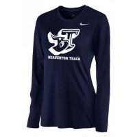 Beaverton Track 21: Nike Women's Legend Long-Sleeve Training Top - Navy Blue