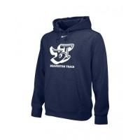 Beaverton Track 33: Adult-Size - Nike Team Club Fleece Training Hoodie (Unisex)- Navy Blue