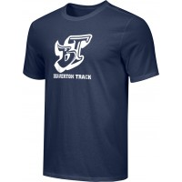 Beaverton Track 22: Adult-Size - Nike Combed Cotton Core Crew T-Shirt - Navy Blue