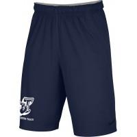 Beaverton Track 42: Adult-Size - Nike Team Fly Athletic Shorts - Navy Blue