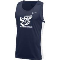 Beaverton Track 01: Adult-Size - Nike Dry Miler Men's Running Tank - Navy Blue